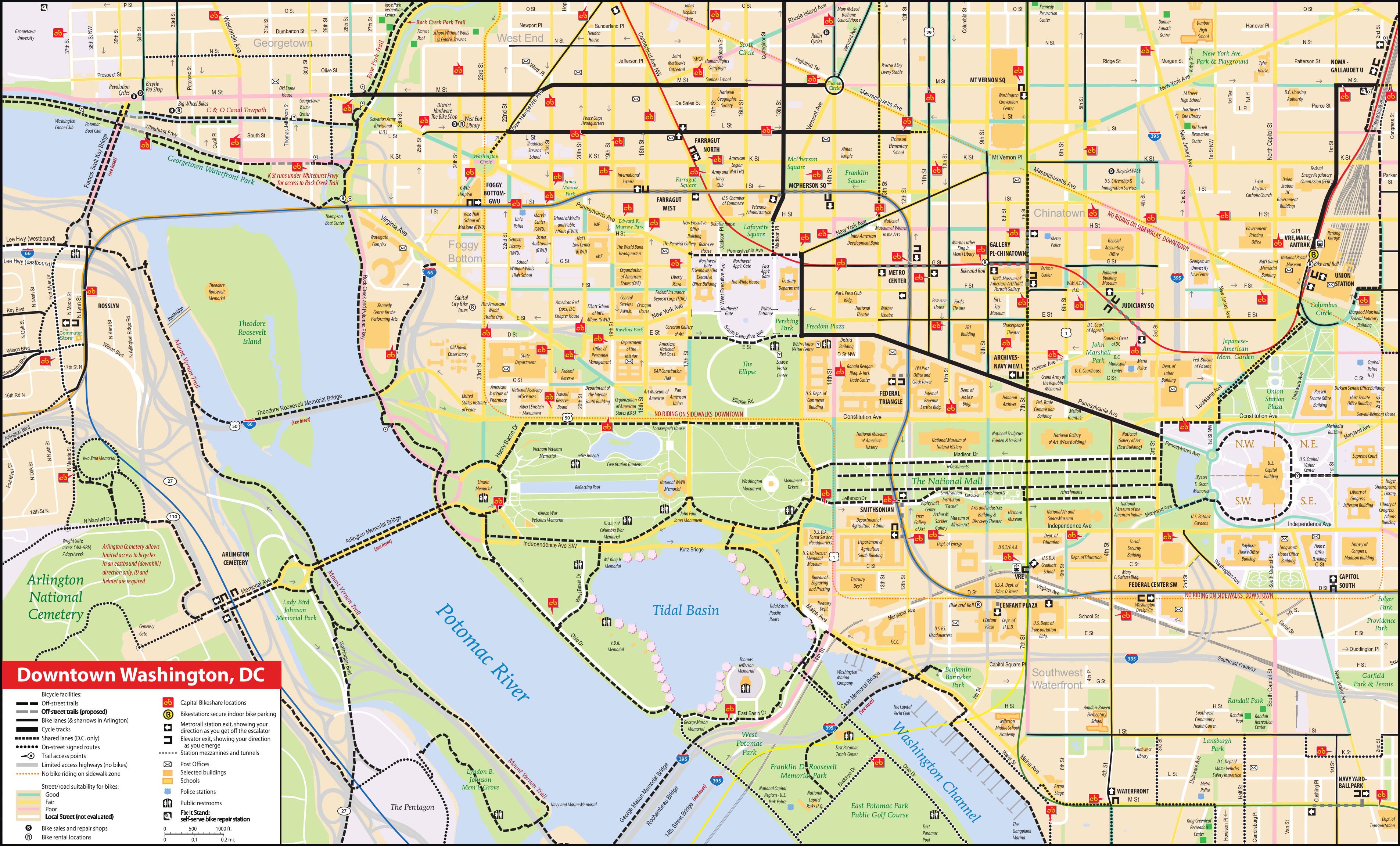 National Mall Maps | Npmaps - Just Free Maps, Period. - Printable Map Of Washington Dc