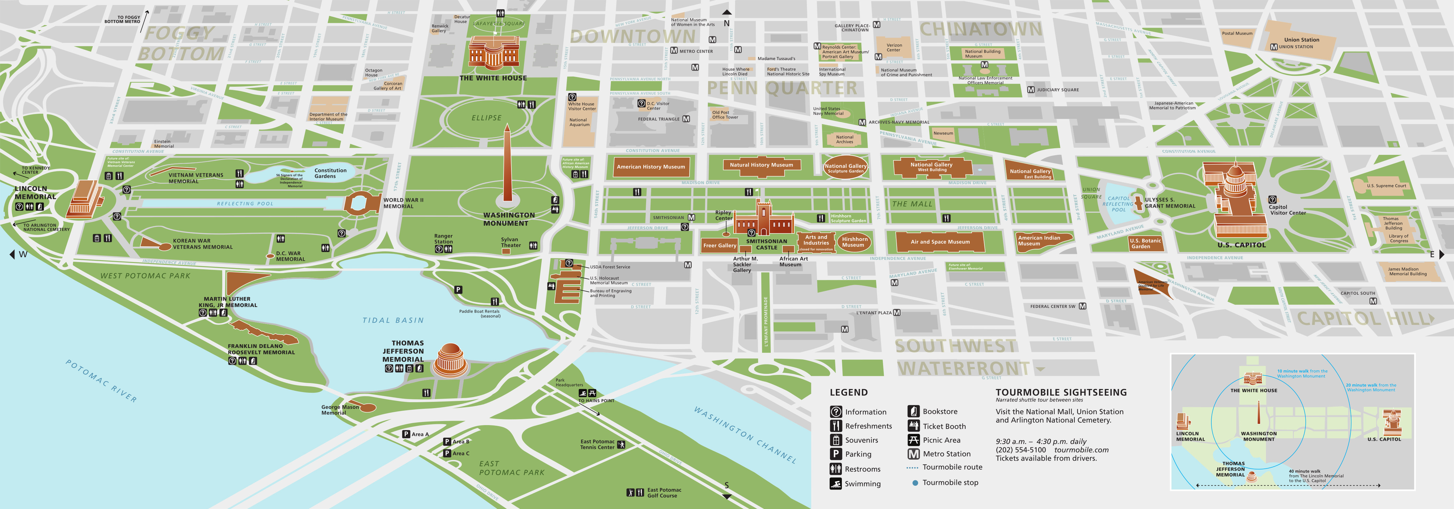 National Mall Maps | Npmaps - Just Free Maps, Period. - Printable Street Map Of Washington Dc