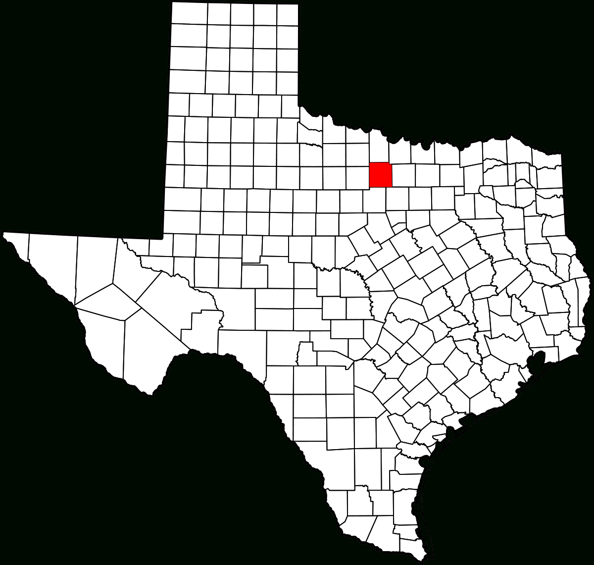 National Register Of Historic Places Listings In Jack County, Texas - Jack County Texas Map