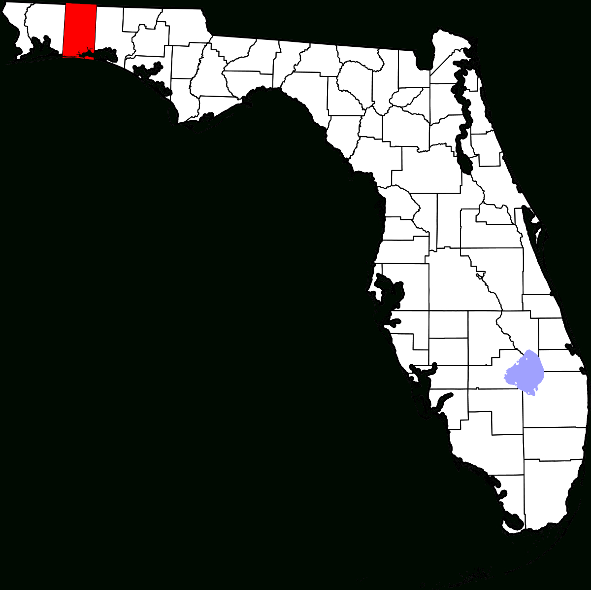 National Register Of Historic Places Listings In Okaloosa County - Where Is Fort Walton Beach Florida On The Map
