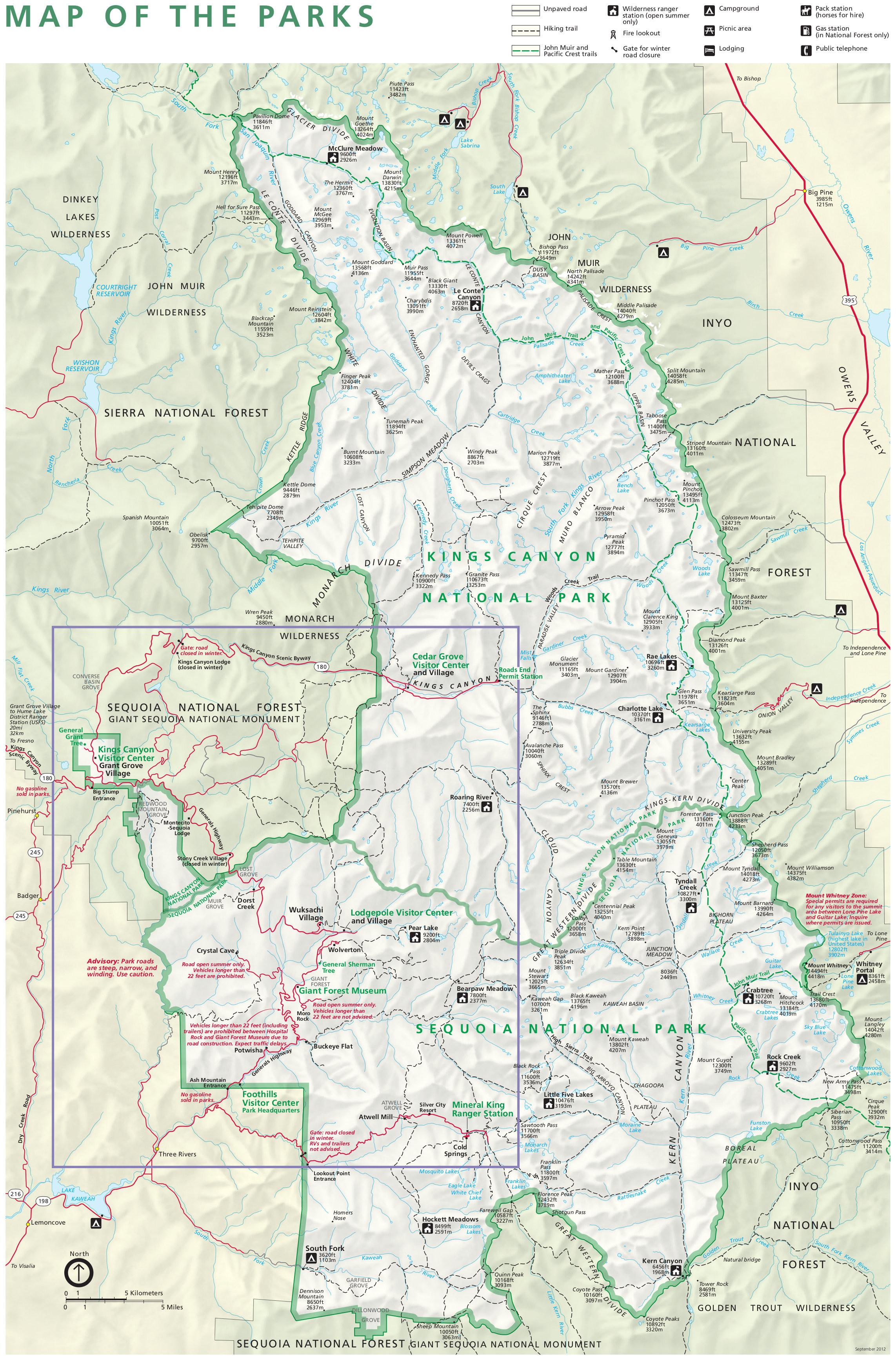 Natural Hot Springs California Map Best Of Kings Canyon National - Hot Springs California Map