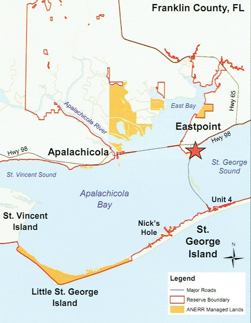 Nature Center In Eastpoint - Day Trips And Stay-Cations - Things To - Carrabelle Island Florida Map