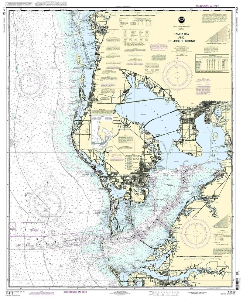 Nautical Map Of Tampa   Tampa Bay And St. Joseph Sound Nautical Map - Nautical Maps Florida