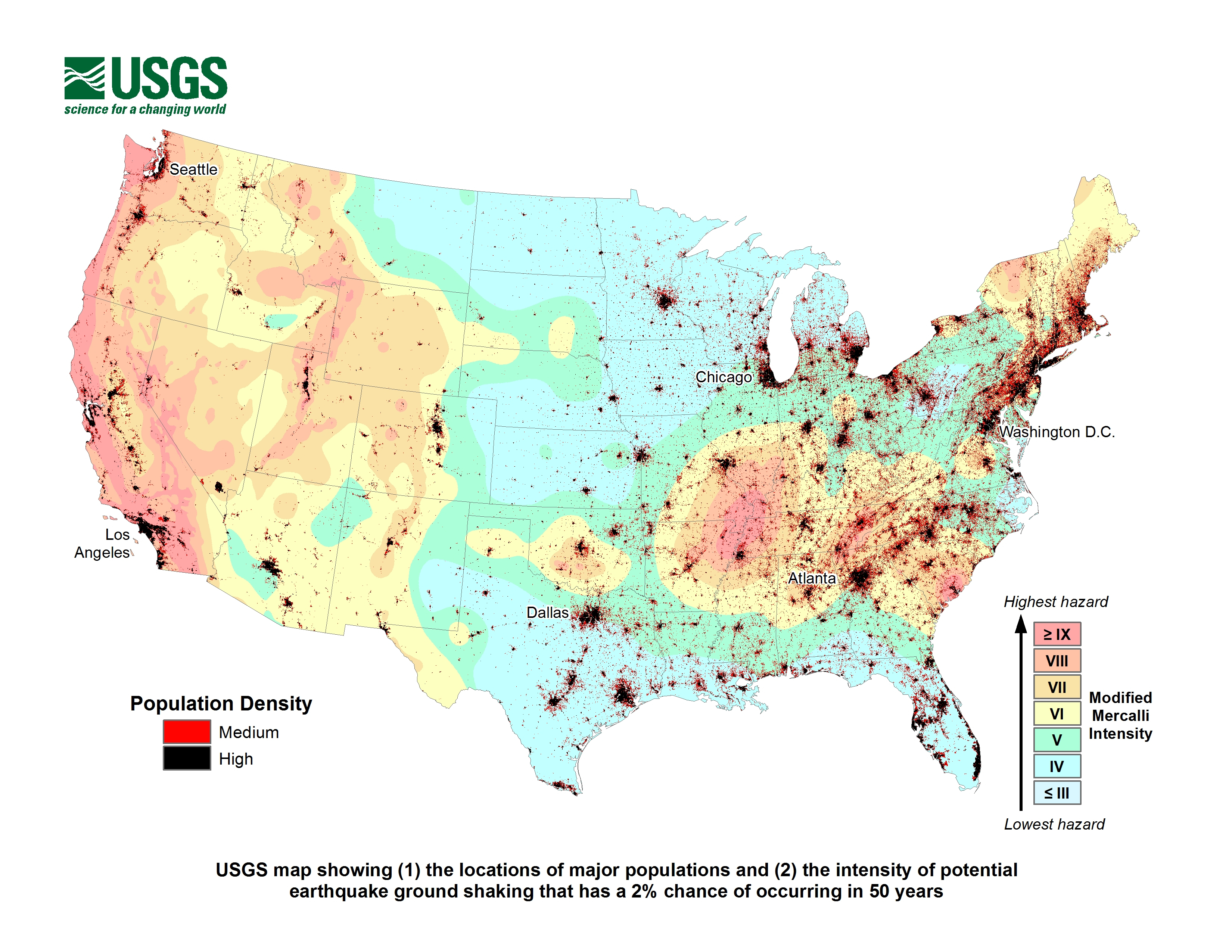 Nearly Half Of Americans Exposed To Potentially Damaging Earthquakes - Florida Earthquake Map