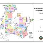 Neighborhoods Of Long Beach, California   Wikipedia   Map Of Long Beach California And Surrounding Areas