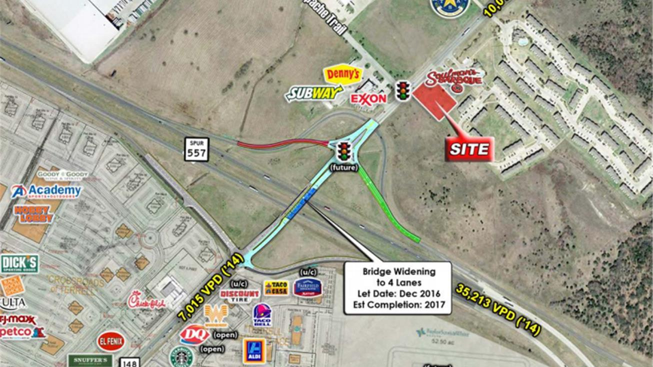 Neq Us 80 (Spur 557) & Fm 148, Terrell, Tx 75160 - Land For Sale - Terrell Texas Map