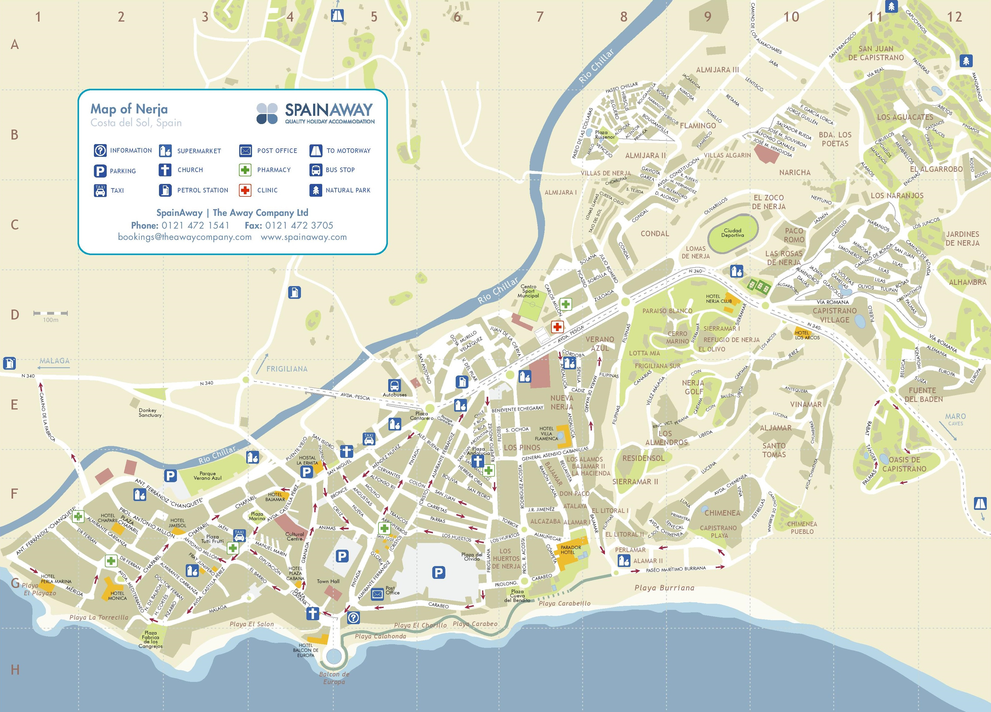 Nerja Tourist Map - Printable Street Map Of Nerja Spain