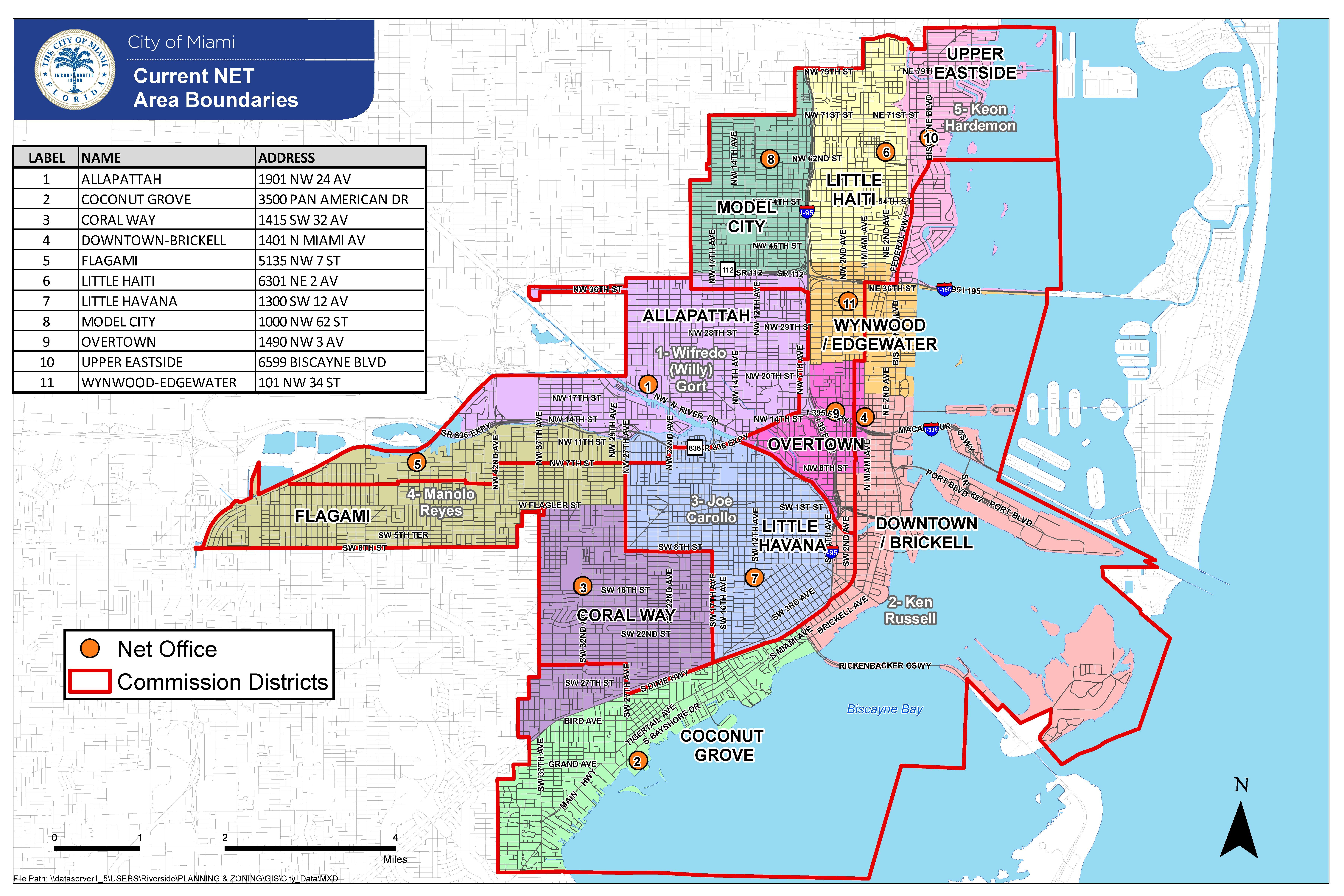 Net 20Current 20Boundaries 205 9 16 Map Of Miami Florida And - The Map Of Miami Florida