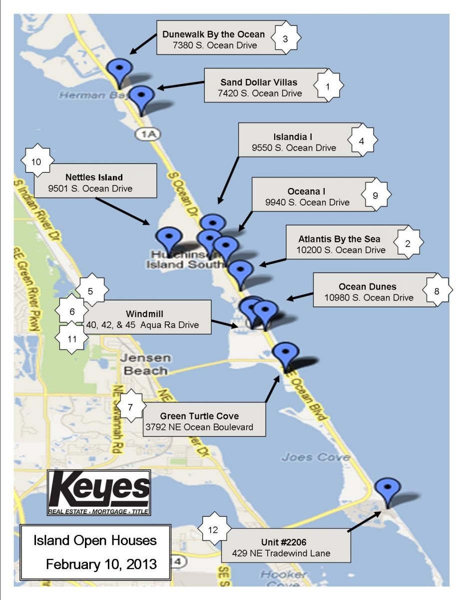 Nettles Island, Florida | The Pearson Group - Hutchinson Island Florida Map
