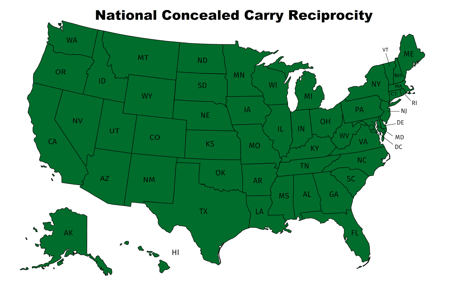 Nevada Carry: Would The Concealed Carry Reciprocity Act Allow - Texas Chl Reciprocity Map 2017