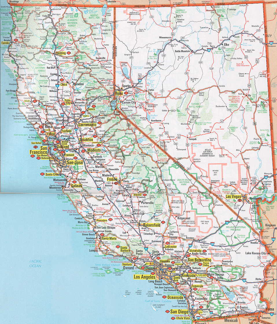 Nevada Road Map Hognews Com Is Giving Free Listings To Local Best Of - Best California Road Map