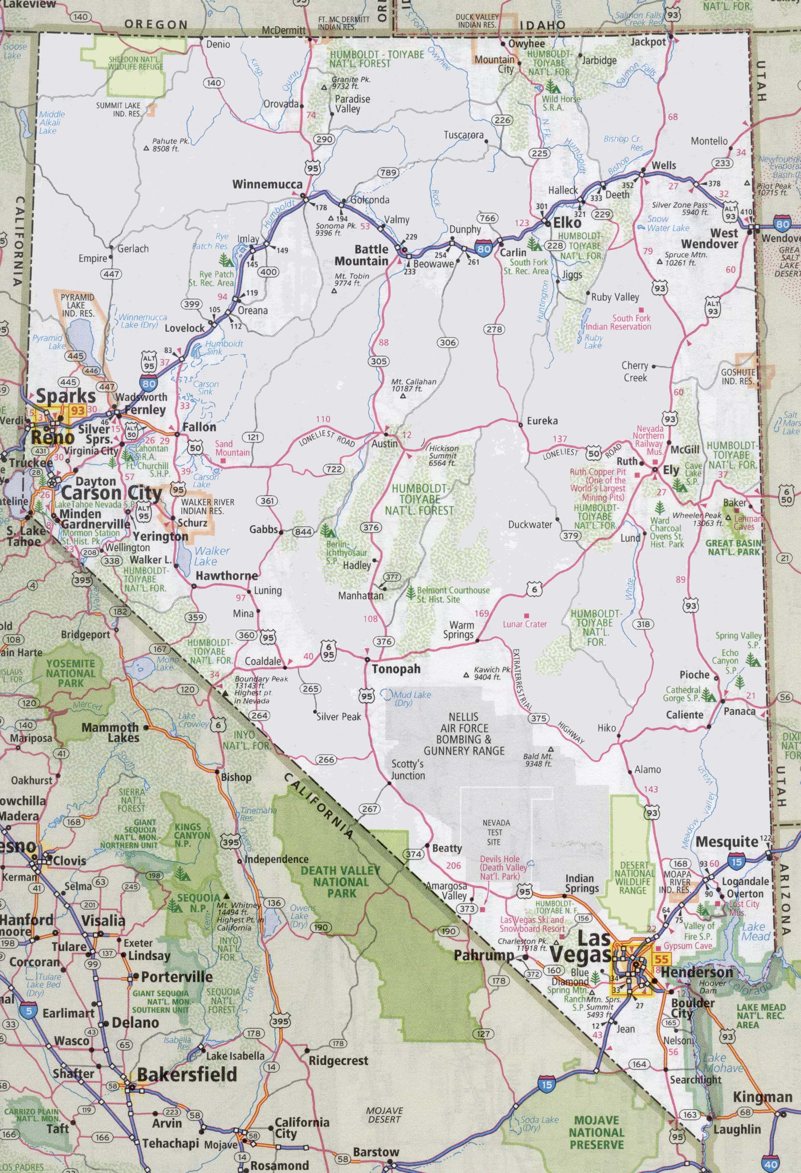 Nevada Road Map Picture Maps Road Map Of California And Oregon - Road Map Of California And Nevada