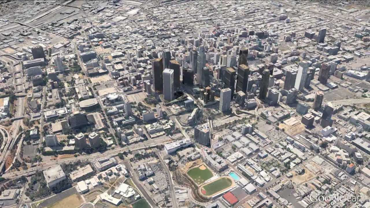 New 3D Imagery Of Los Angeles In Google Earth 7 - Youtube - Google Maps Los Angeles California