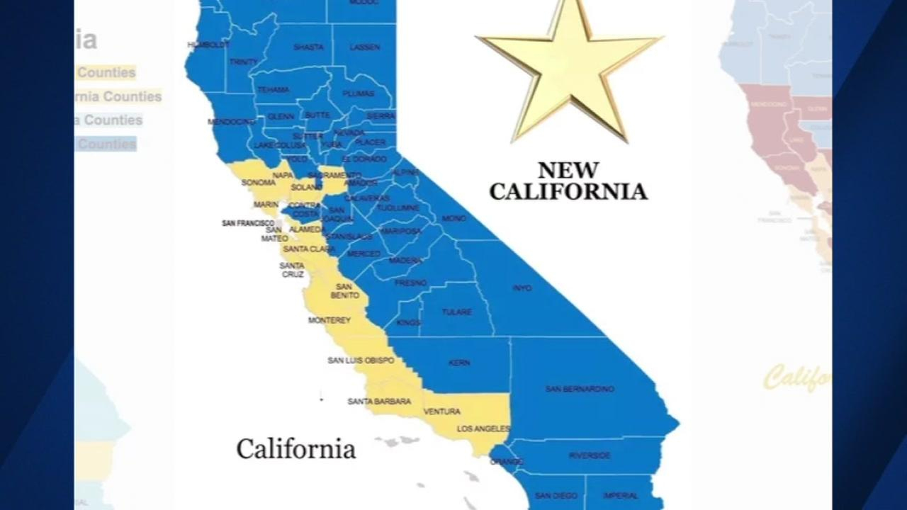 New California' Campaign Declares 'independence,' Wants To Create - New California Map 3 States
