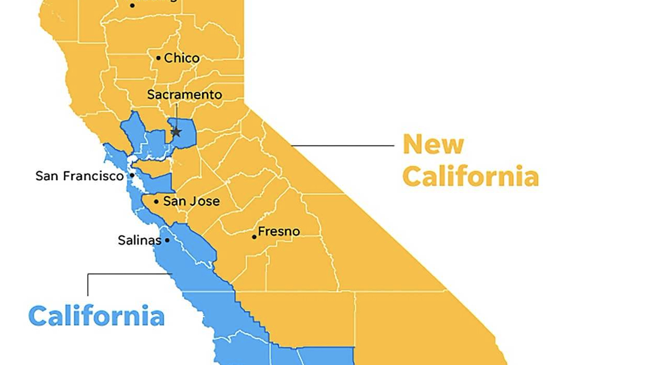New California Declares Independence From California In Statehood Bid - Map Of The New California Republic