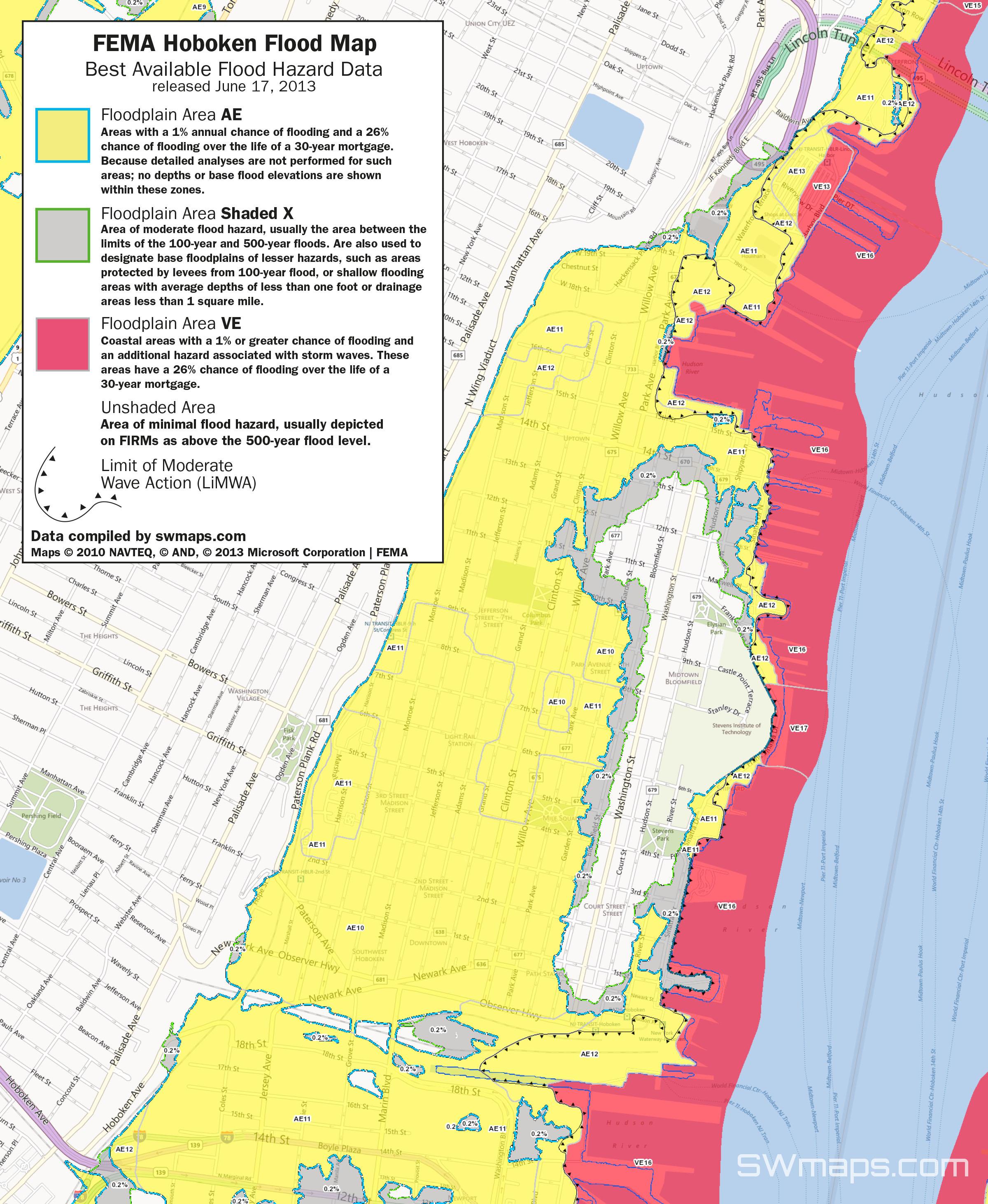New Hoboken Flood Map: Fema Best Available Flood Hazard Data - Flood Insurance Rate Map Florida
