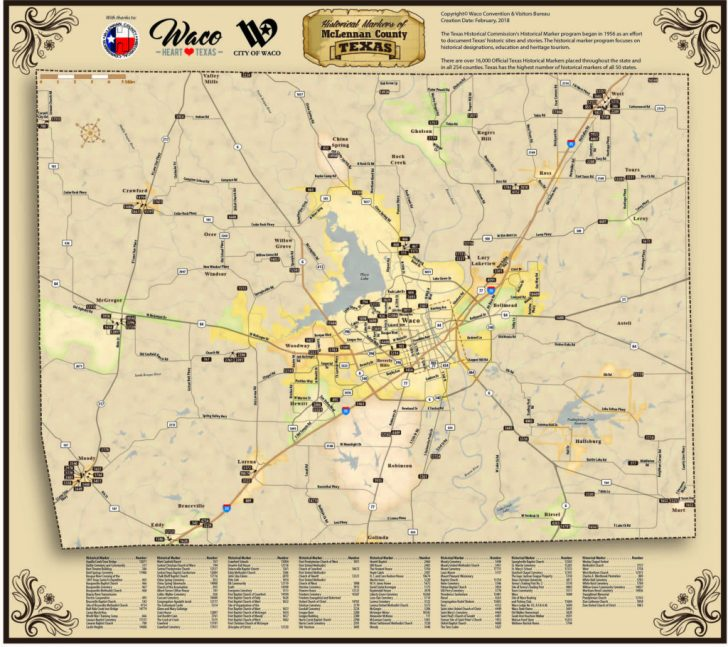 Map Of Waco Texas And Surrounding Area