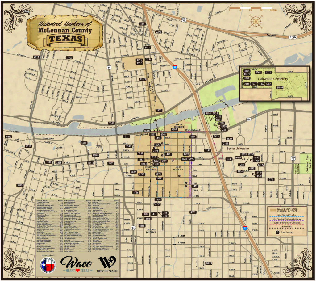 New Map Available – Historical Markers Of Mclennan County – Waco - Map Of Waco Texas And Surrounding Area