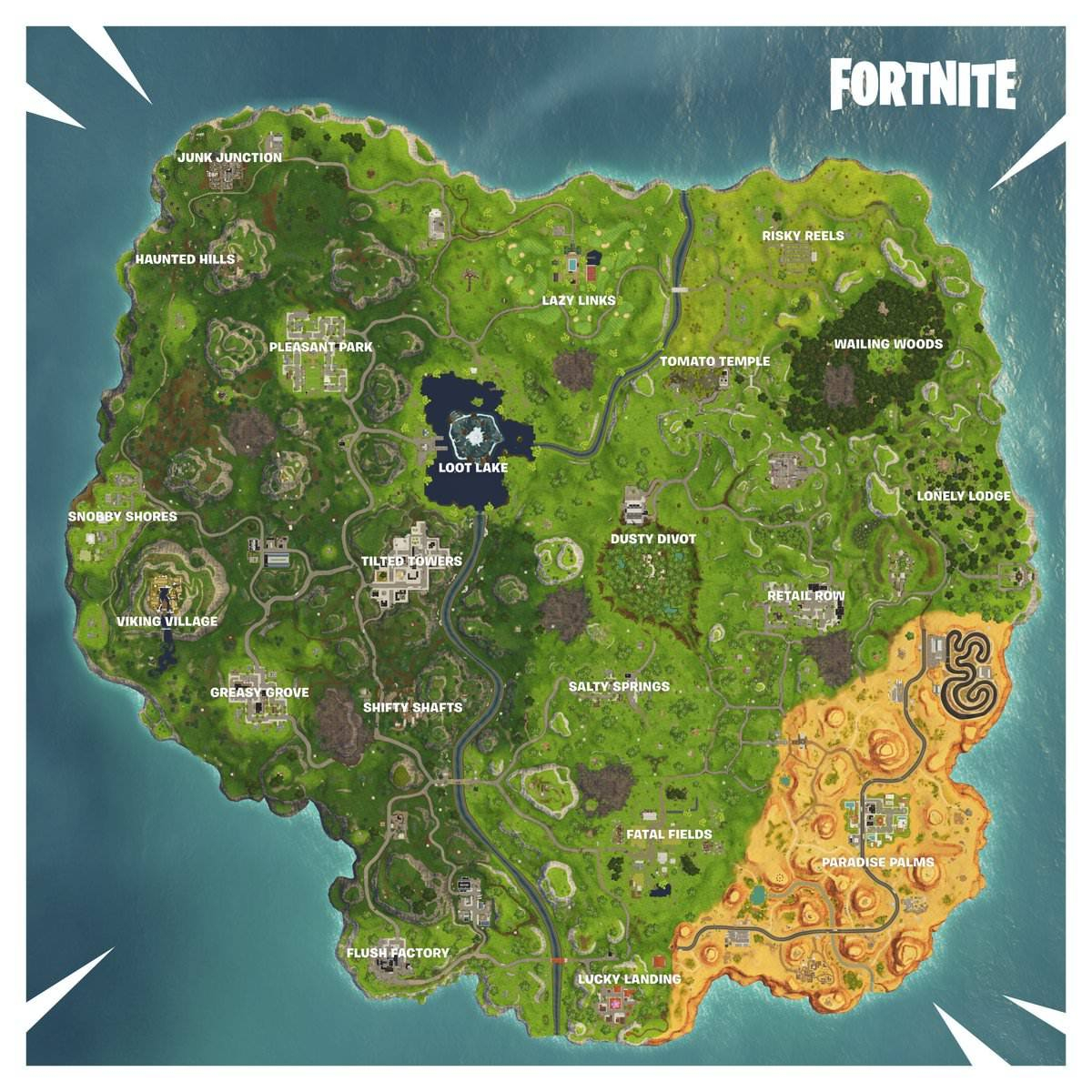 New Map Changes In Fortnite Season 6 - Fortnite Wiki Guide - Ign - Printable Fortnite Map