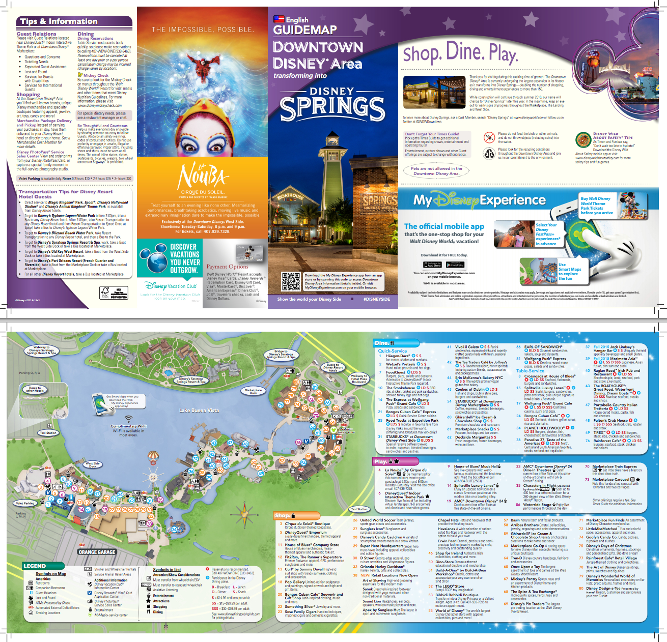 New Map For Downtown Disney/disney Springs (Pdf) | Disney Springs - Map Of Disney Springs Florida