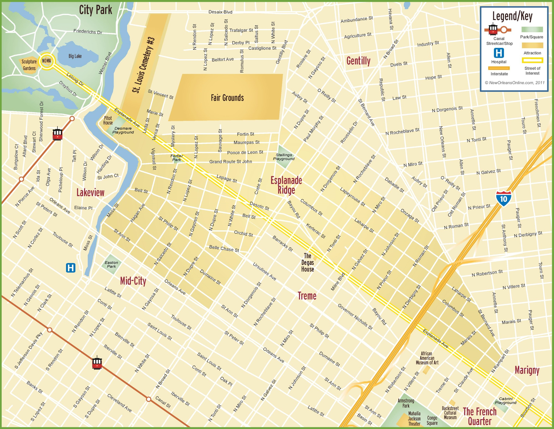 New Orleans Maps | Louisiana, U.s. | Maps Of New Orleans - Printable Walking Map Of New Orleans