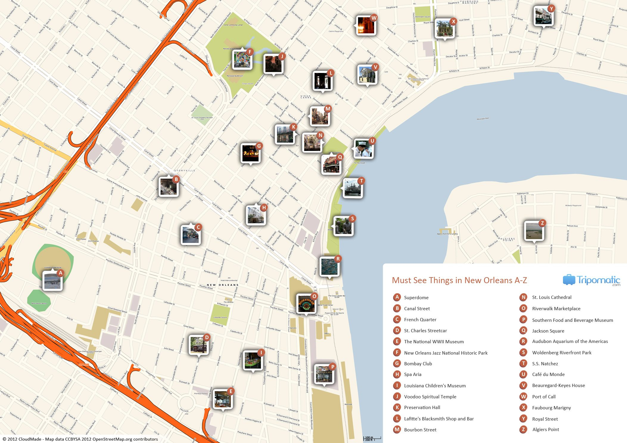 New Orleans Printable Tourist Map | Free Tourist Maps ✈ | Tourist - New Orleans Street Map Printable