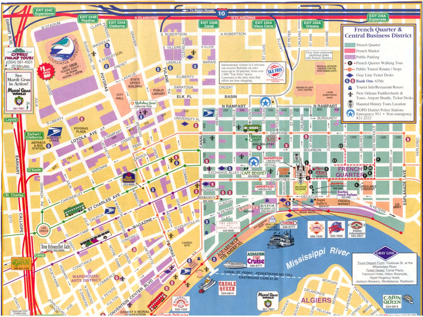 New Orleans Walking Map Afputra Com With French Quarter Printable - Printable Map Of New Orleans
