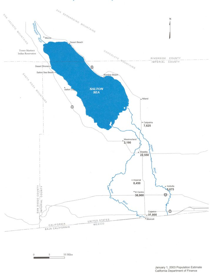 Salton Sea California Map