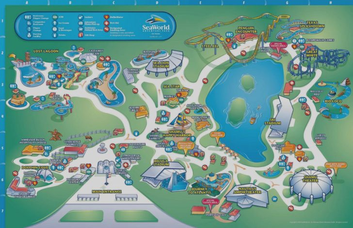 Seaworld Orlando Map 2018 Printable