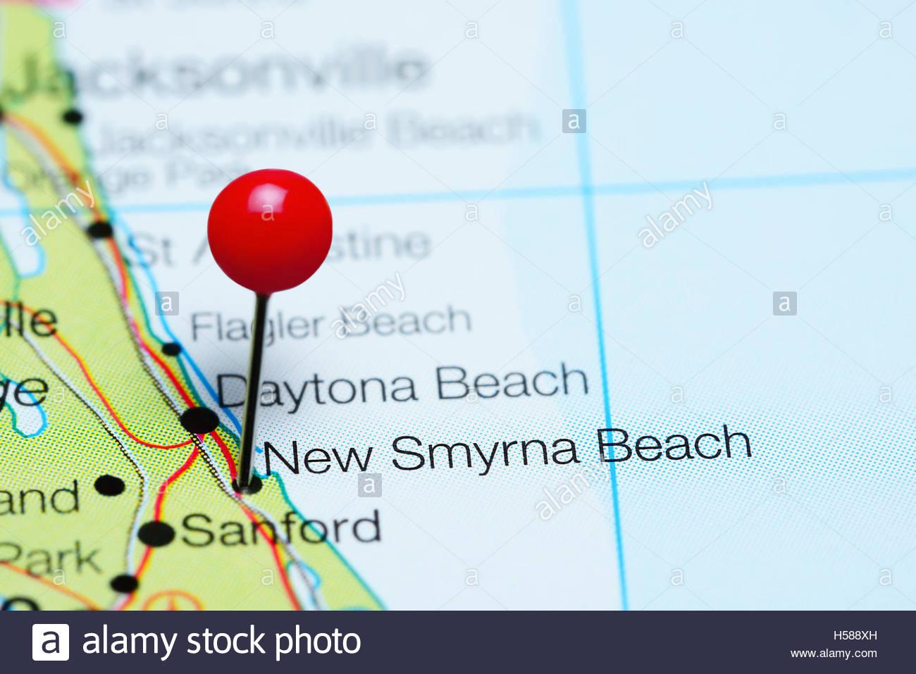 New Smyrna Beach Florida Stock Photos & New Smyrna Beach Florida - New Smyrna Beach Florida Map