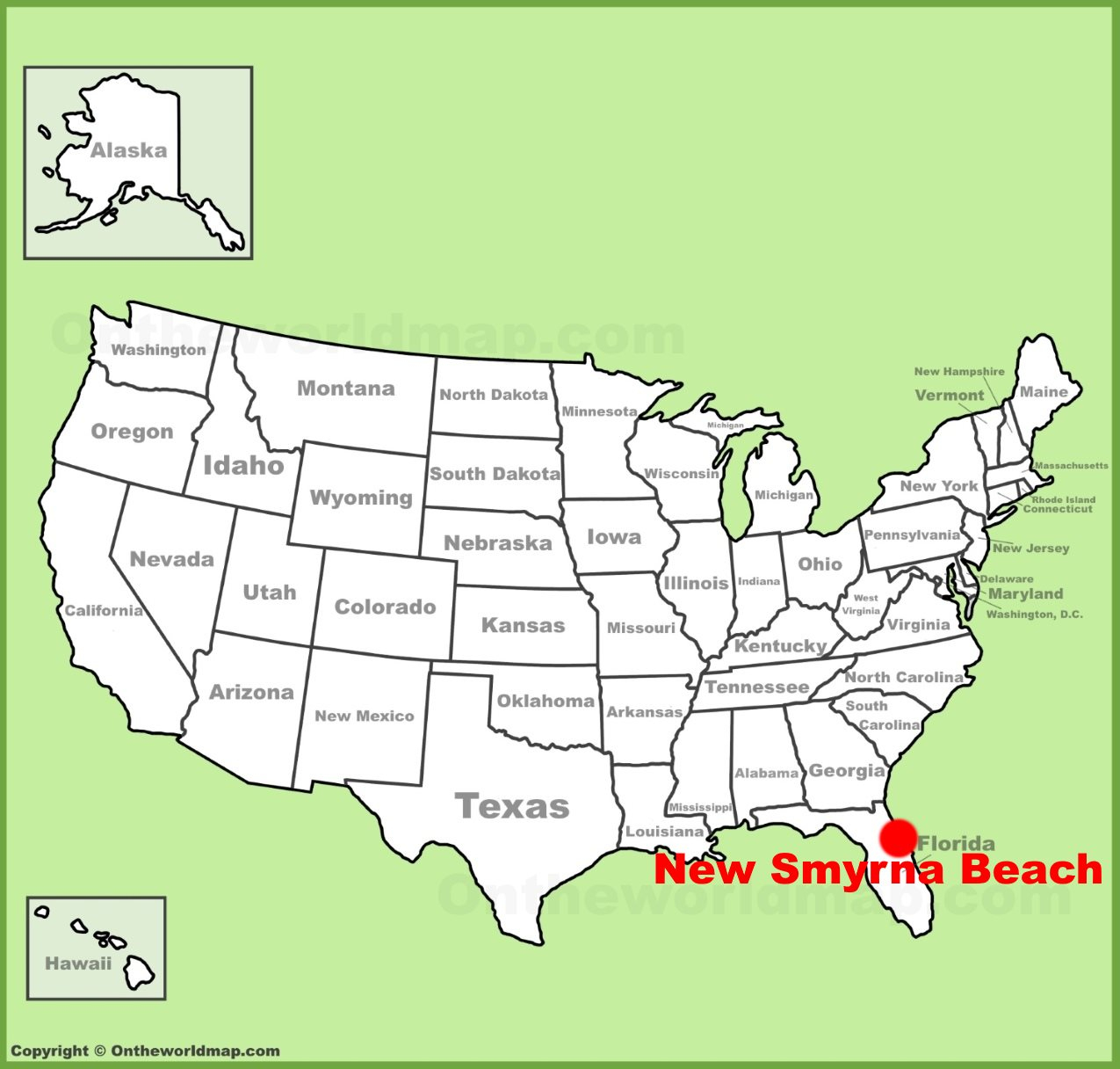 New Smyrna Beach Location On The U.s. Map - New Smyrna Beach Florida Map