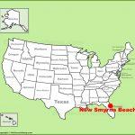 New Smyrna Beach Location On The U.s. Map   Smyrna Beach Florida Map