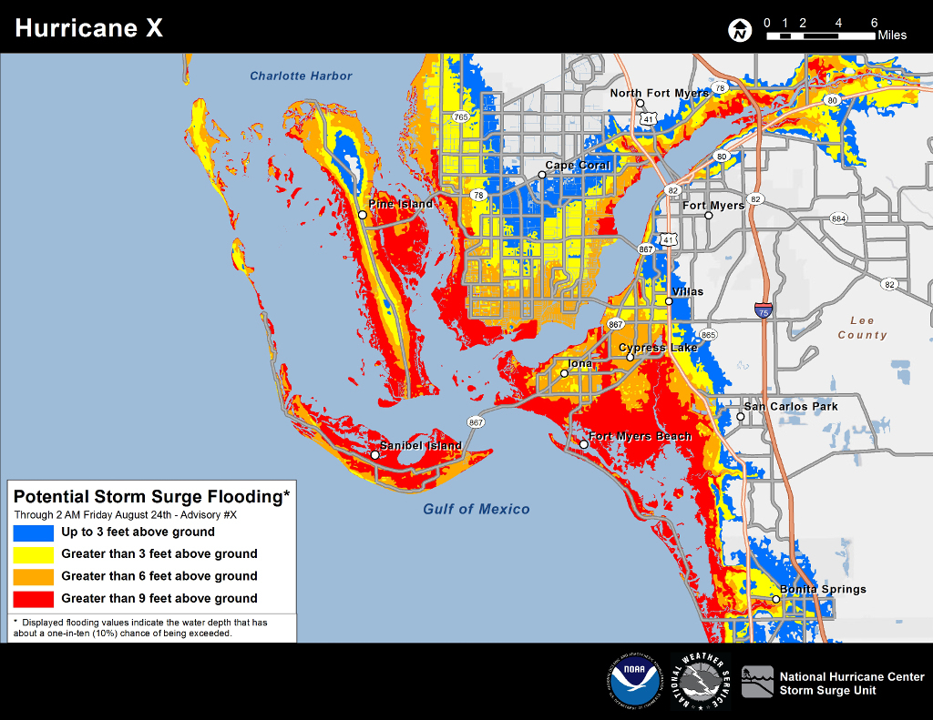New Storm Surge Maps Show Deadliest Areas During Hurricane | Weatherplus - Lee County Flood Zone Maps Florida