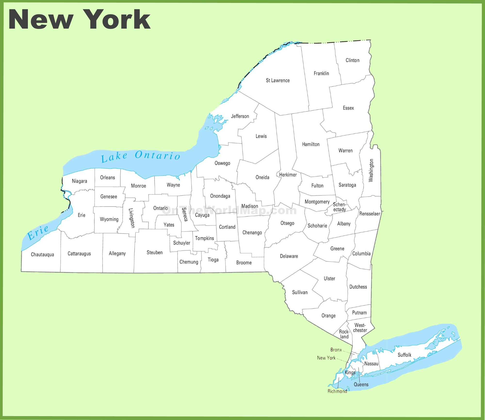 New York State Maps | Usa | Maps Of New York (Ny) - Road Map Of New York State Printable