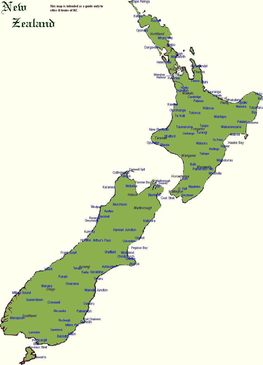 New Zealand Maps | Printable Maps Of New Zealand For Download - Printable Map Of Auckland