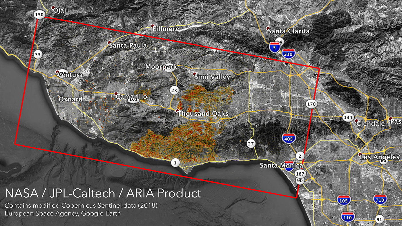 News | Nasa's Aria Maps California Wildfires From Space - Show Me A Map Of California Wildfires