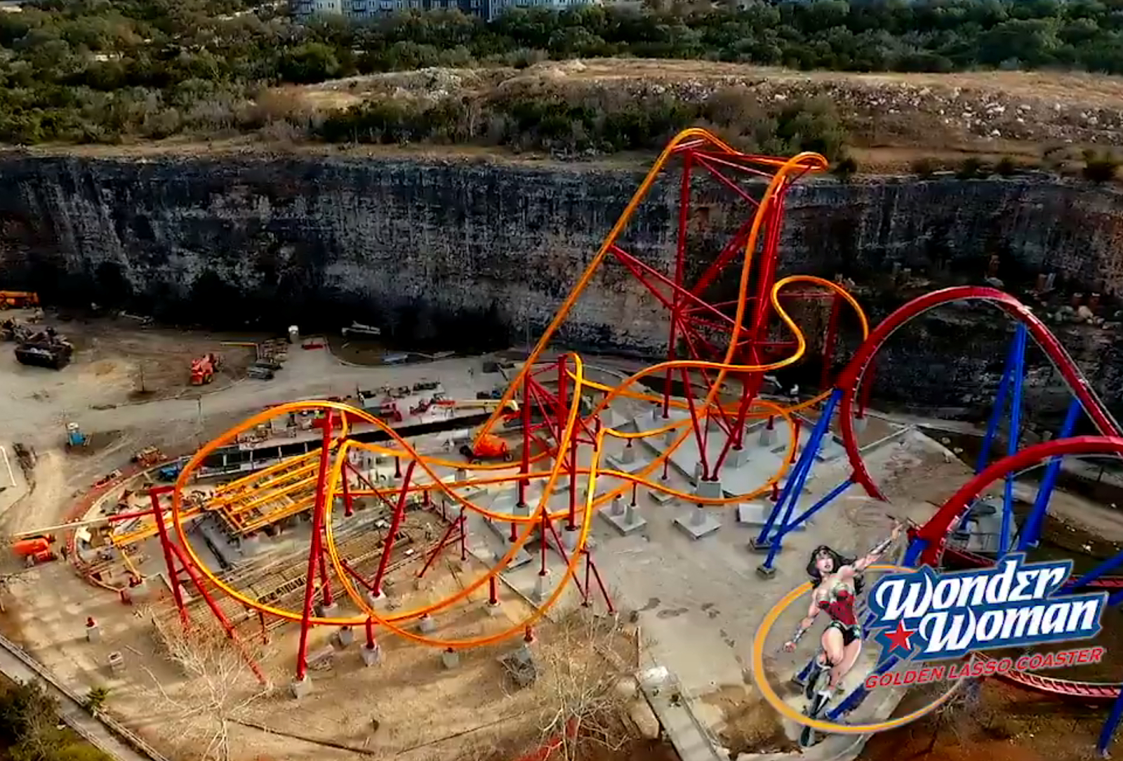 Newsplusnotes: Six Flags Fiesta Texas Shares Aerial Footage Of - Six Flags Fiesta Texas Map 2018