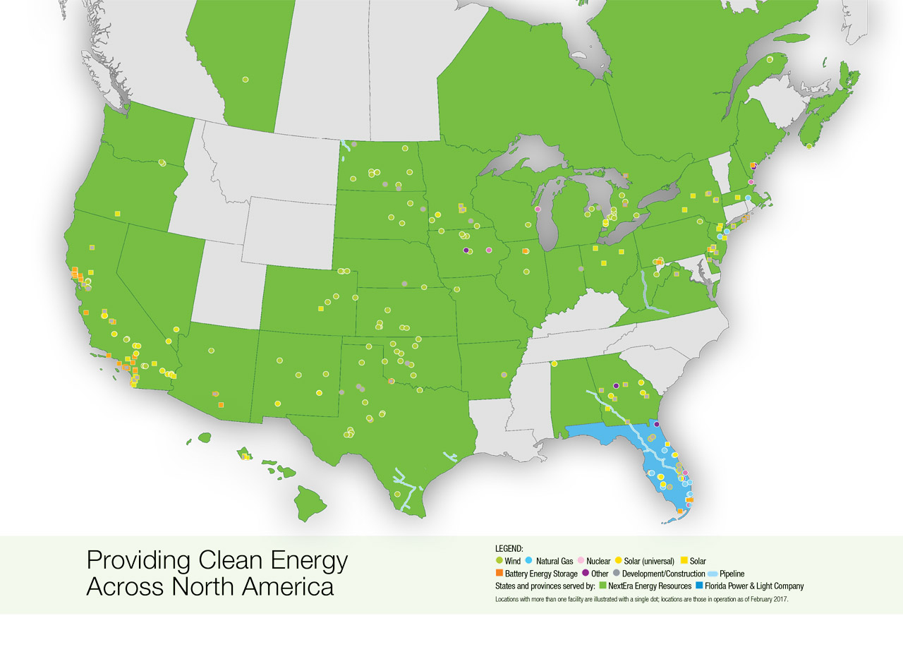 Nextera Energy Resources | Locations Map - Power Plants In Texas Map