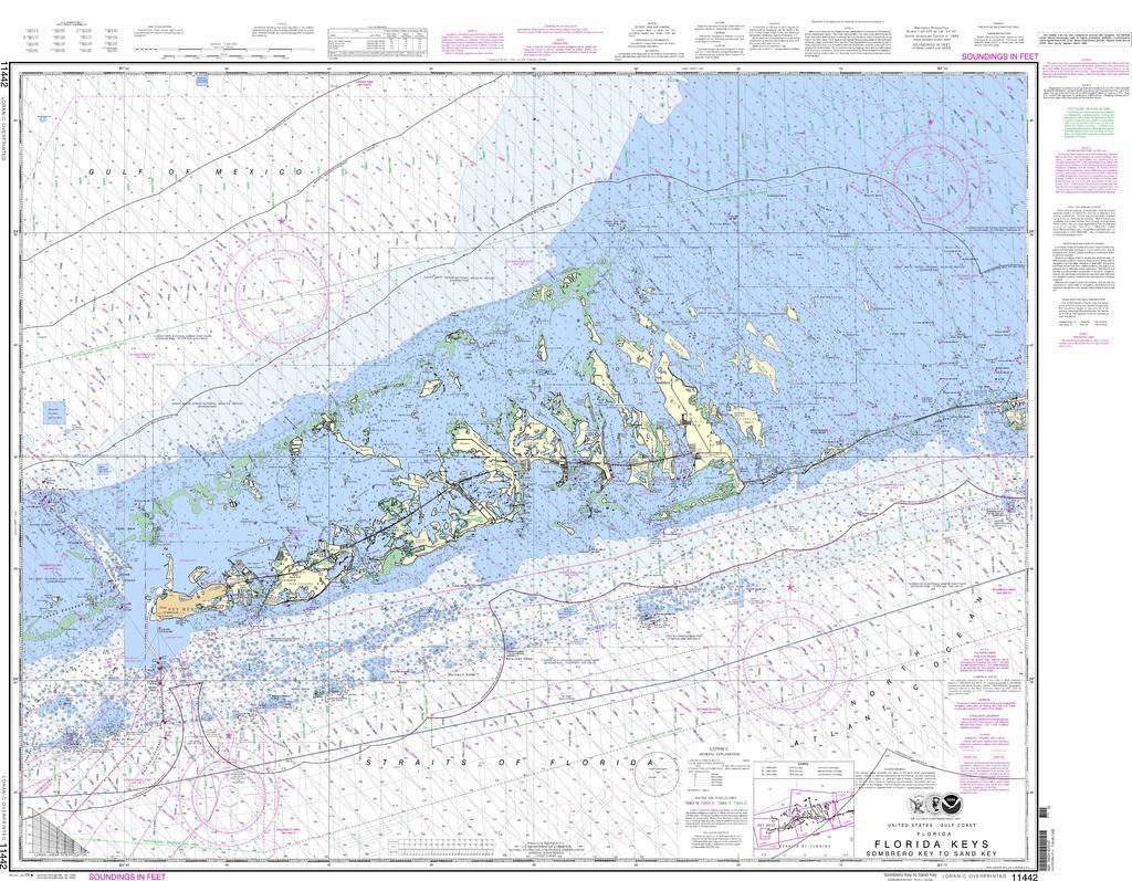 Noaa Chart 11442 Florida Keys Sombrero Key To Sand Key - Florida Keys Nautical Map