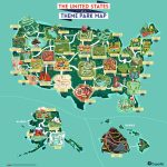 North America As A Theme Park Map Full Map Blank Map Map Of   Amusement Parks California Map