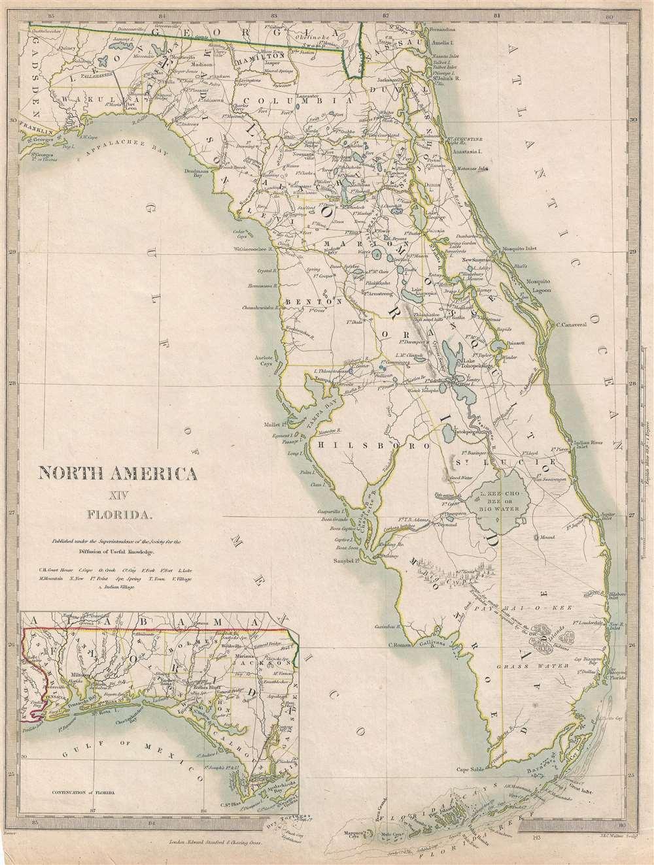 North America Xiv Florida.: Geographicus Rare Antique Maps - Florida Maps For Sale