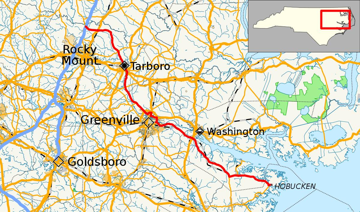 North Carolina Highway 33 - Wikipedia - Printable Street Map Of Greenville Nc
