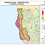 North Coast Probability Map Detailed Of Map Map Of Northern   Map Of Northern California Coast