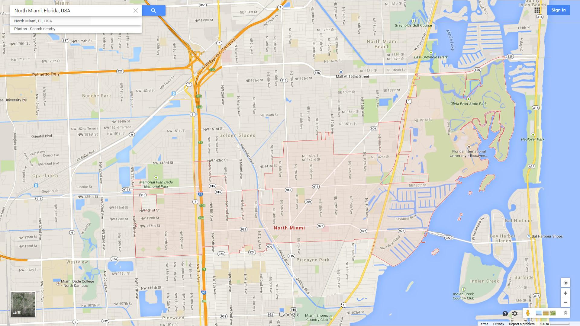 North Miami Florida Map - Florida North Map