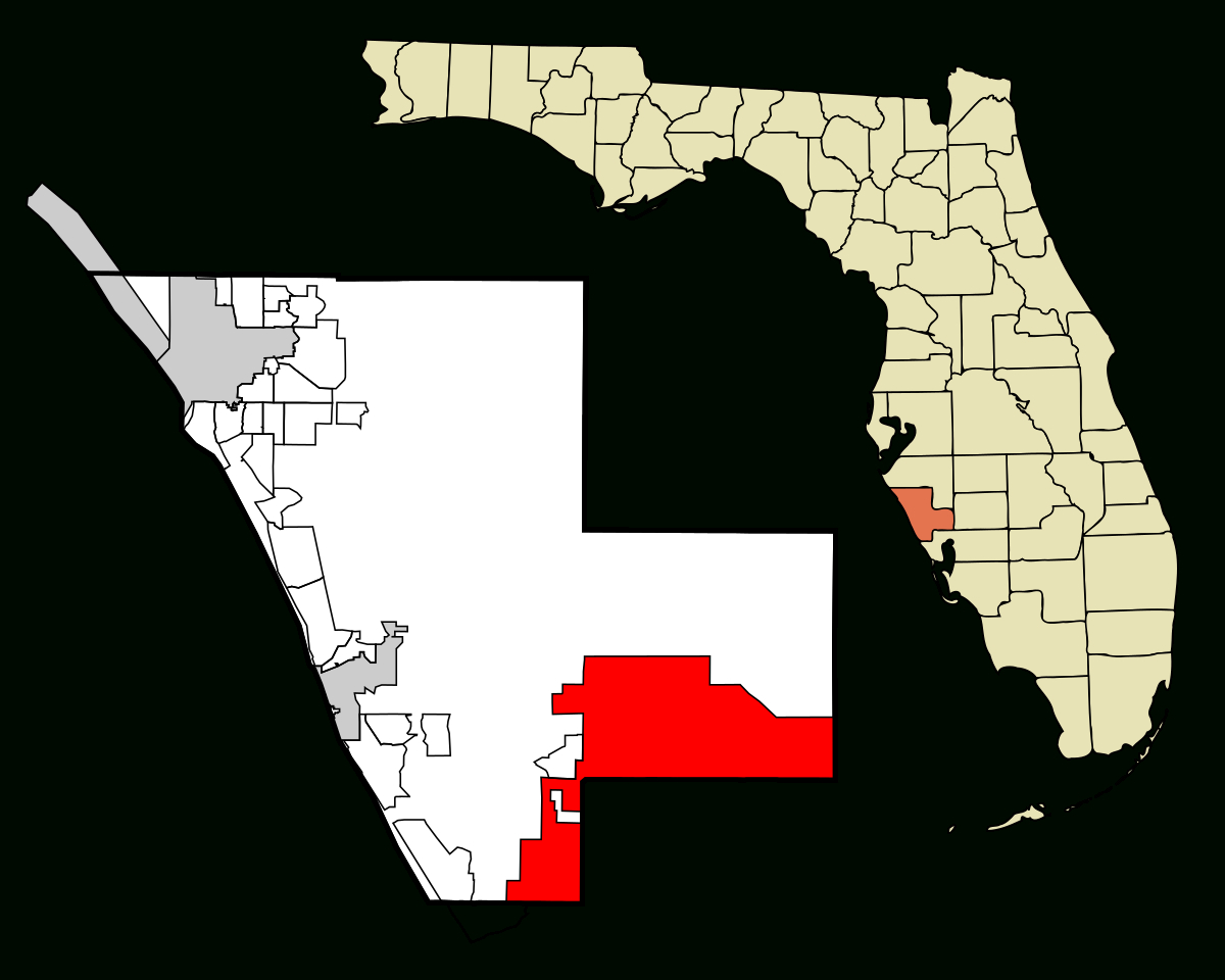 North Port, Florida - Wikipedia - North Port Florida Map