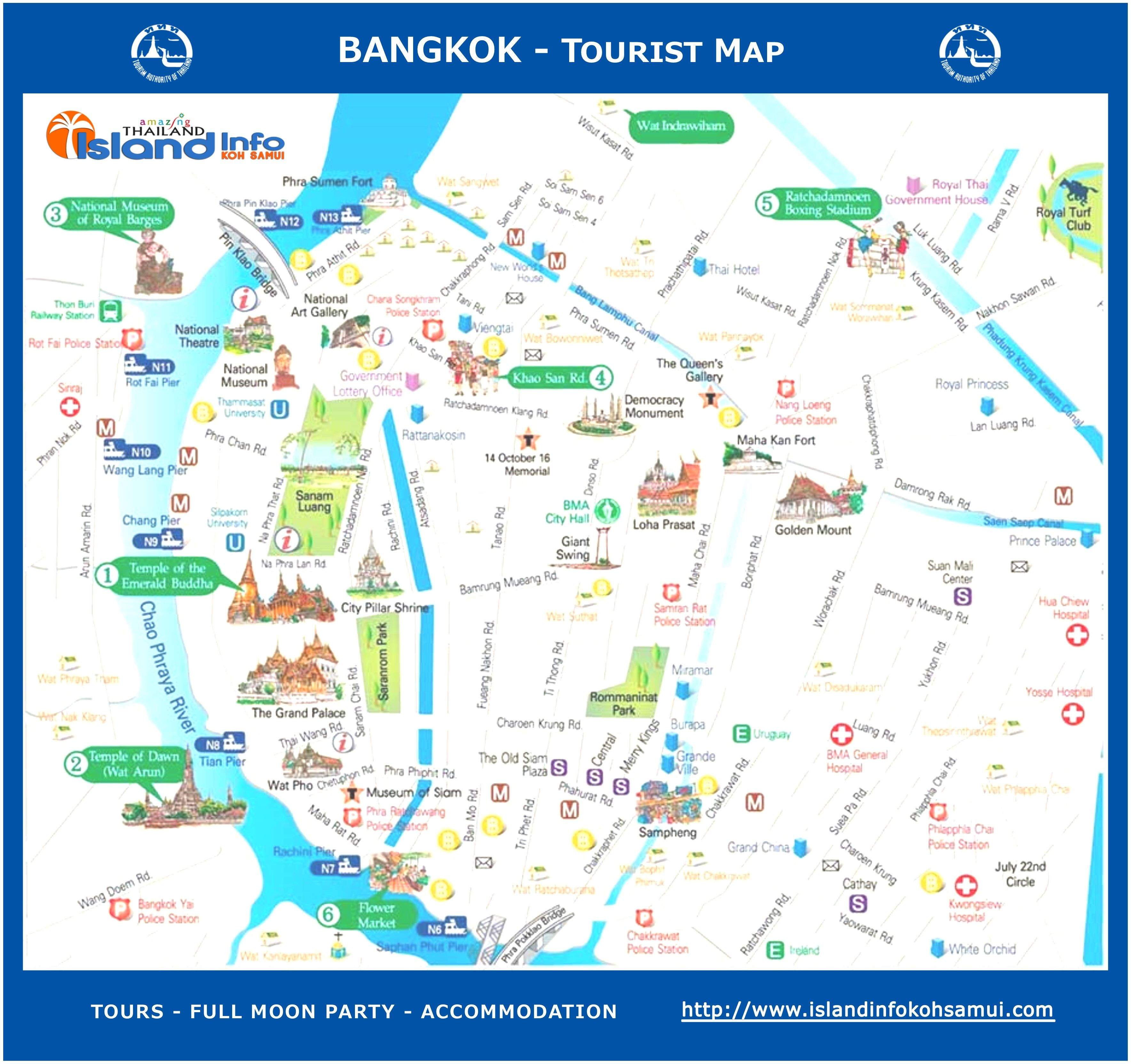 Northern California Attractions Map Best Of Bangkok Tourist Map - Northern California Attractions Map