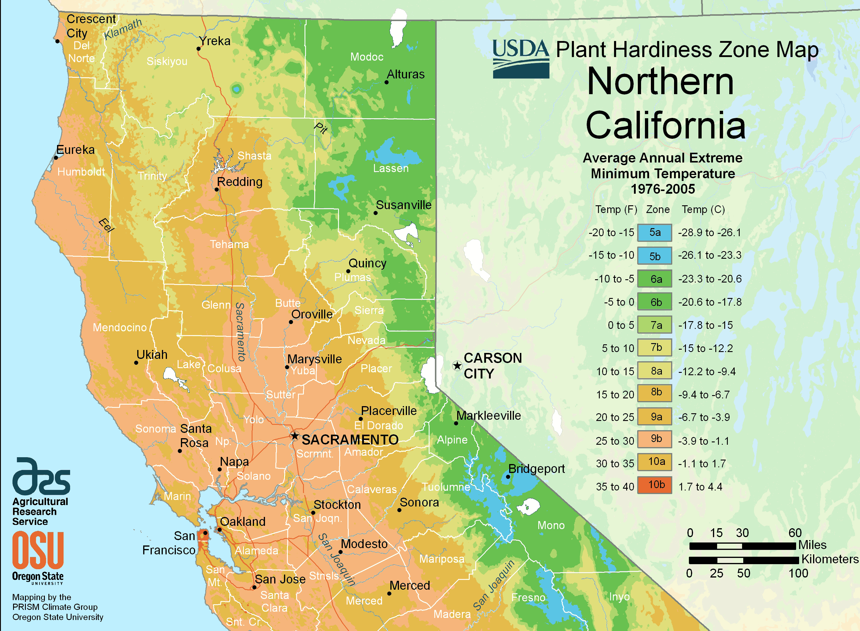 Northern California Plant Hardiness Growing Zones | Outside - Usda Hardiness Zone Map California