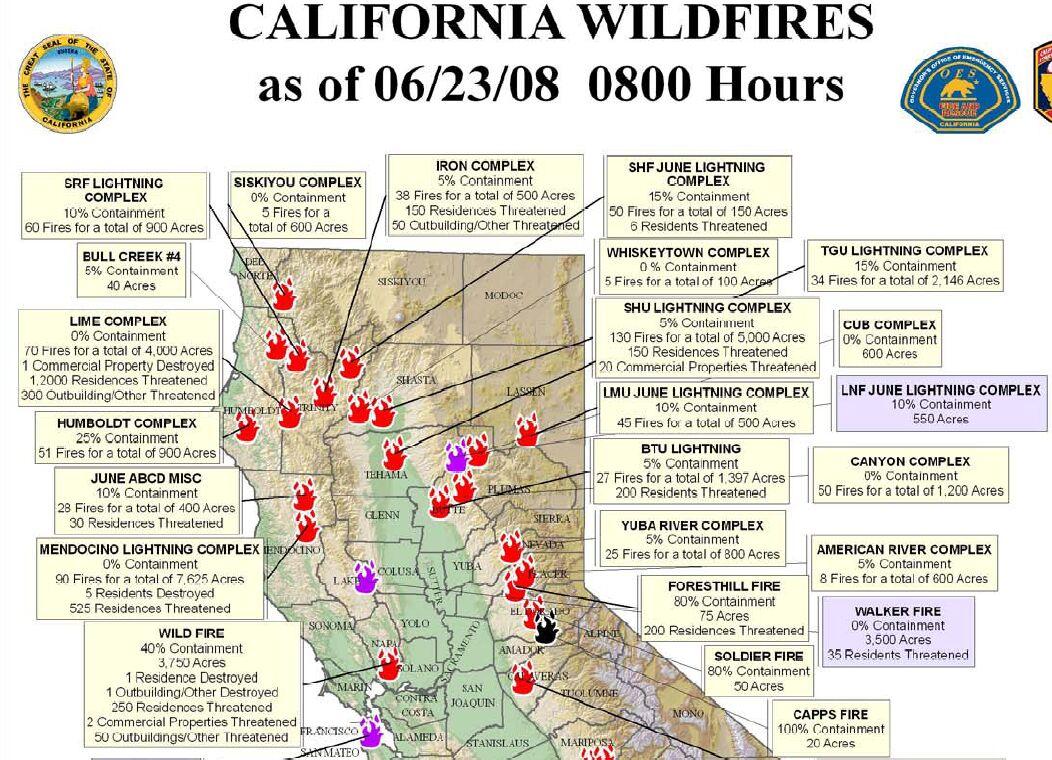 Northern California Wildfire California River Map Northern - Northern California Wildfire Map