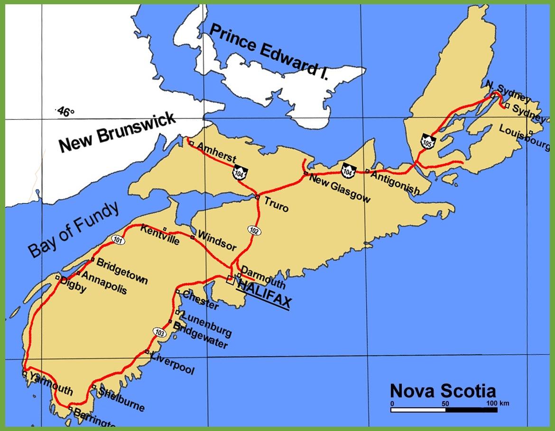 Nova Scotia Maps   Canada   Maps Of Nova Scotia (Ns) - Printable Map Of Nova Scotia