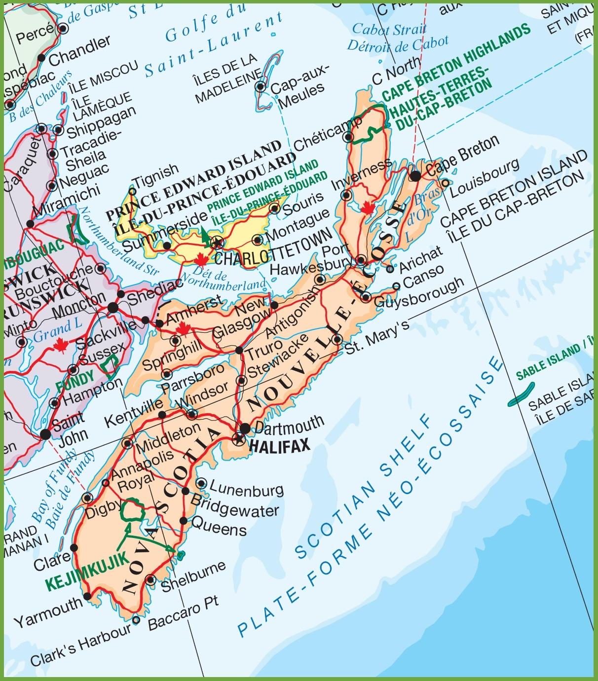 Nova Scotia National Parks Map - Printable Map Of Nova Scotia
